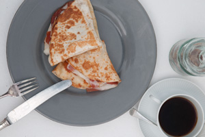 Quesadillas con membrillo y queso de cabra payoya