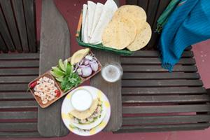 Tacos con gambas de Sanlúcar