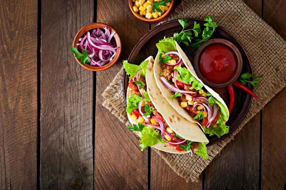 Soft meat tacos